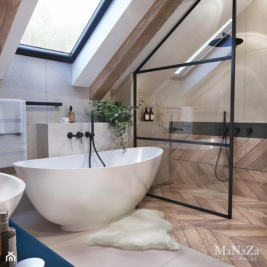 Zostan Pod Jednym Adresem Na Instagramie Lazienka Z Wanna I Prysznicem Tutaj Nie Bylo Miejsca Na Bathroom Design Inspiration Dream Bathrooms Loft Bathroom