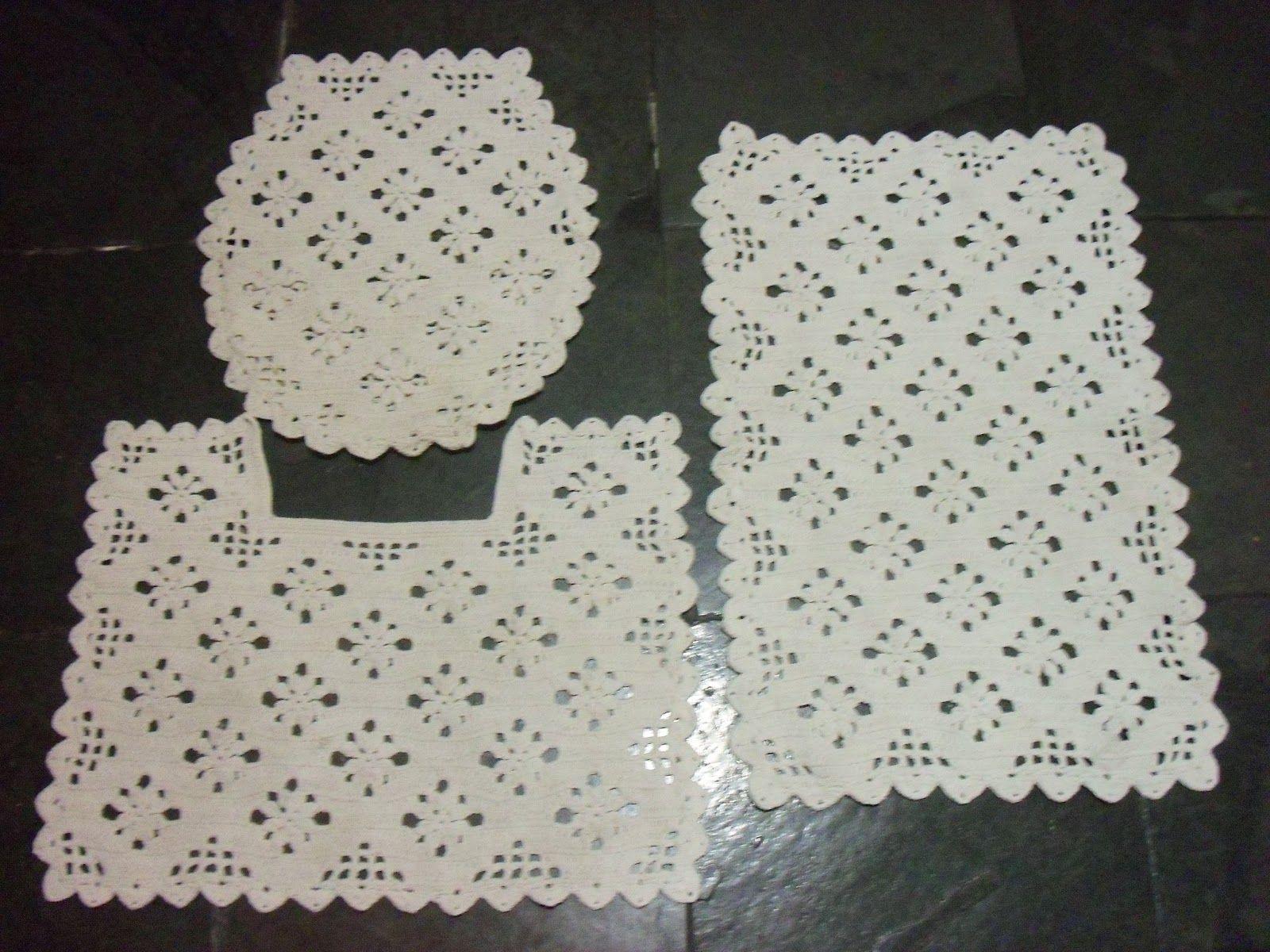 As Receitas de Crochê Jogo de banheiro de crochê com gráfico  Ideias em  -> Jogo De Banheiro Simples Oval Passo A Passo