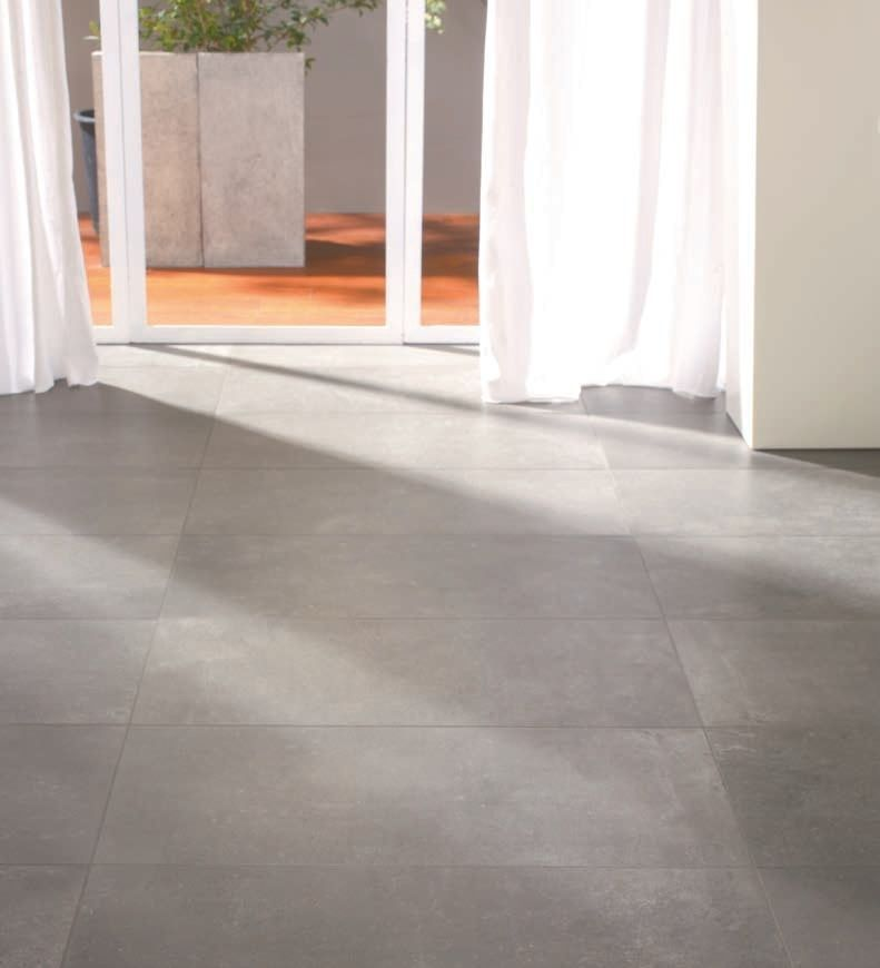 Indoor tile / floor / porcelain stoneware / matte - URBAN CONCRETE ...