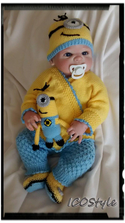 Minion knitting set baby crochet setbaby giftcute booties minion knitting set baby crochet setbaby giftcute bootiesslippers bankloansurffo Images
