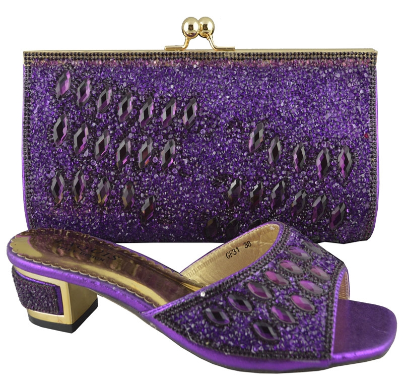 57 60 Watch Now Http Alinm8 China Info Go Php T 32452512017 Purple Whole And Retail African Perfect Matching Shoes Bag Set Good Looking