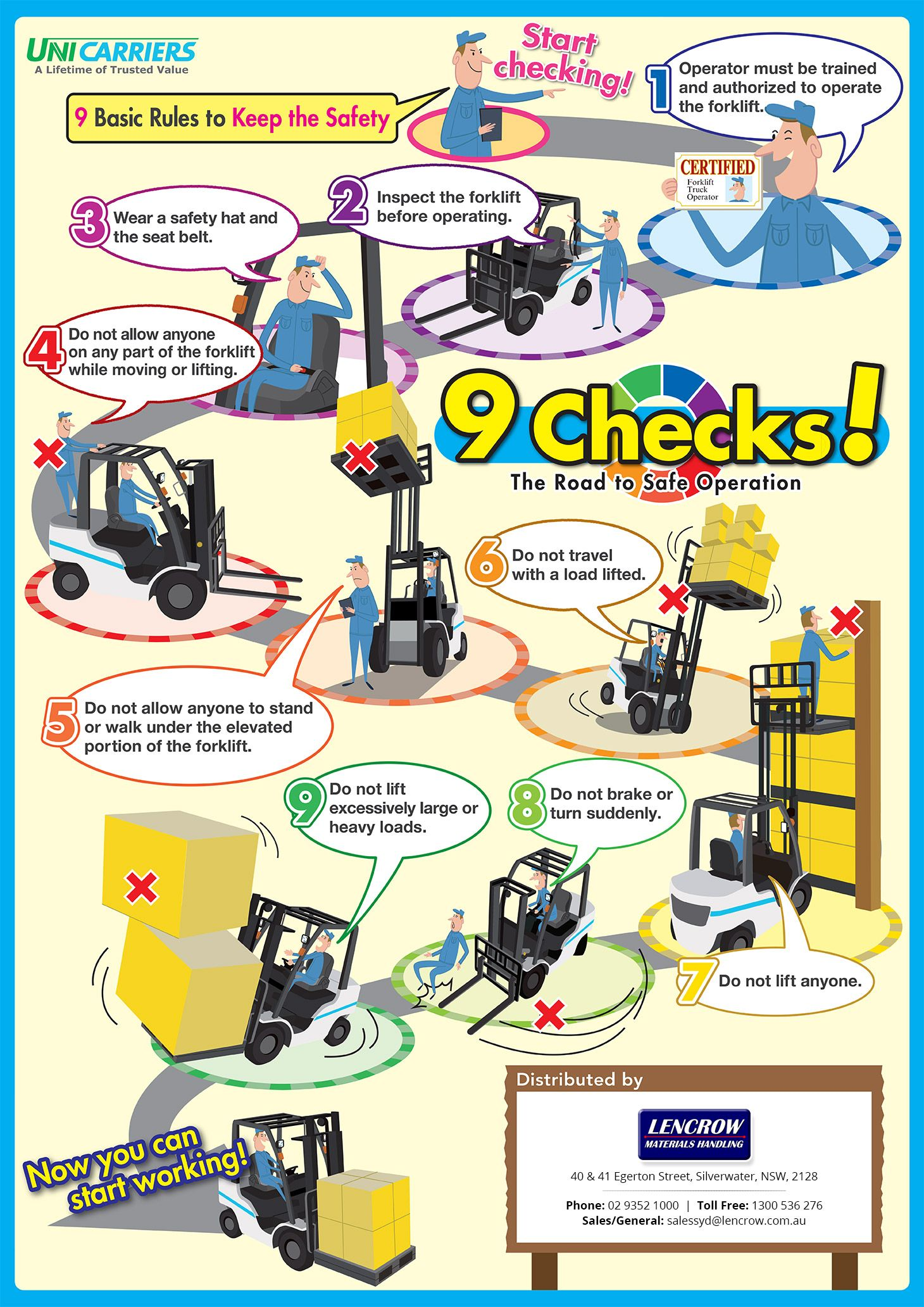 Forklift Safety Tips 9 Basic Rules To Keep The Safety Safety