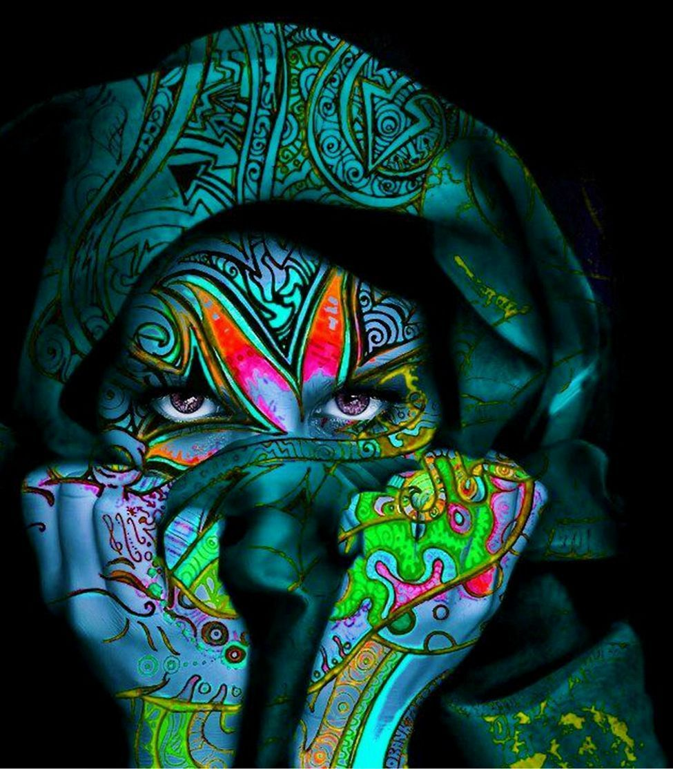 psytrance art Love the colours in this picture all the blsck anfd ...