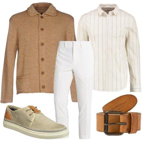 Calzature & Accessori casual bianchi con stringhe per uomo Ralph Lauren xdMgOz