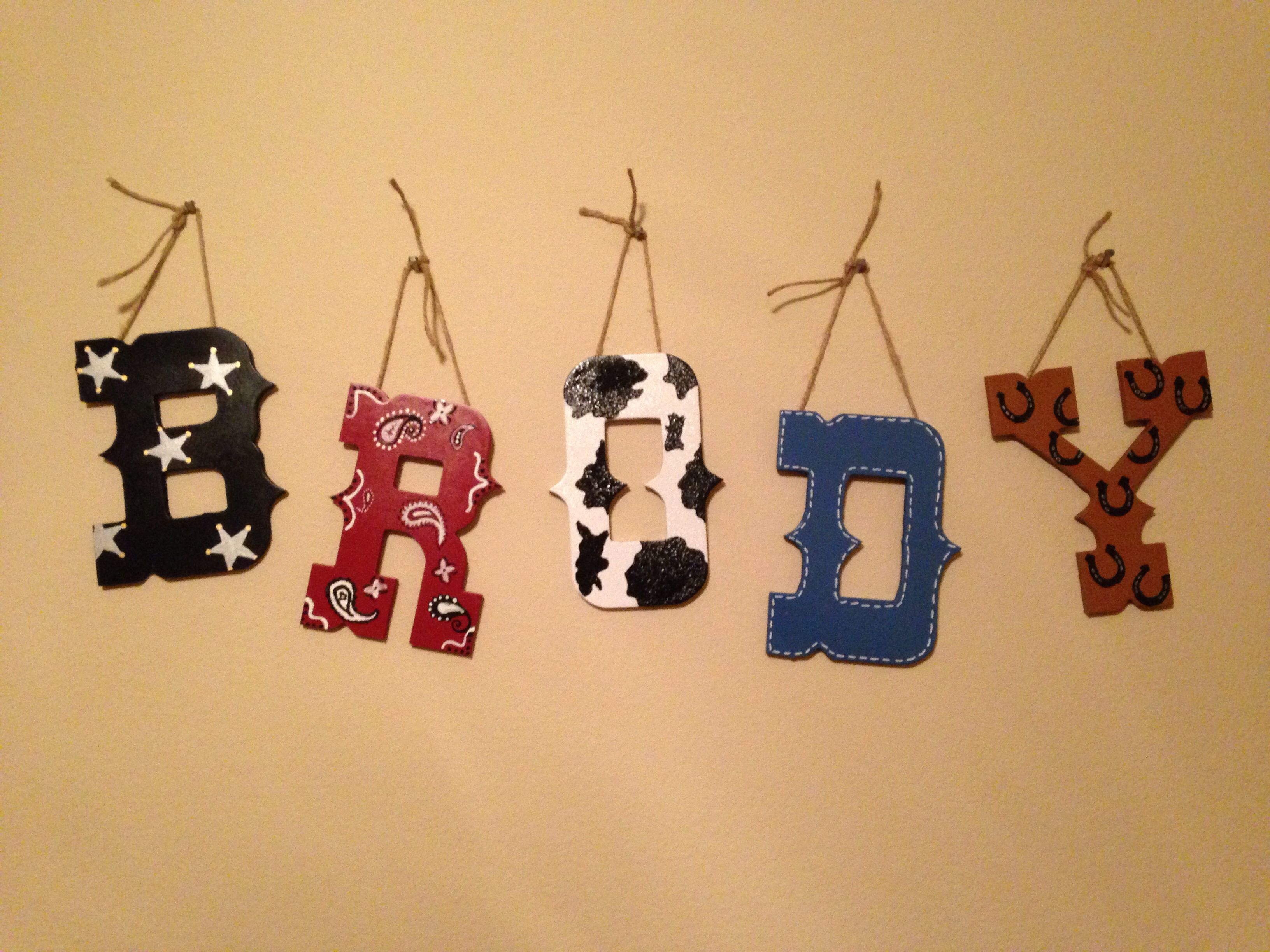 Cowboy western nursery wall letters. I nailed it! | Brody Thomas ...