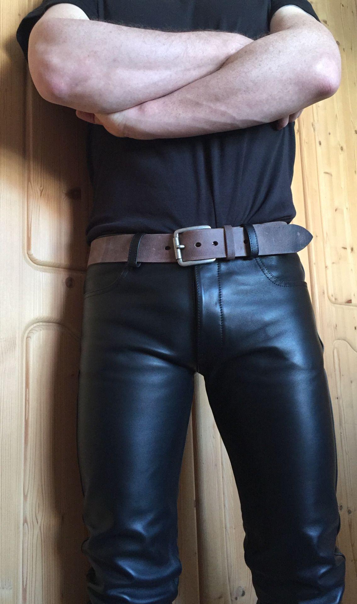 Fetish men leather boots
