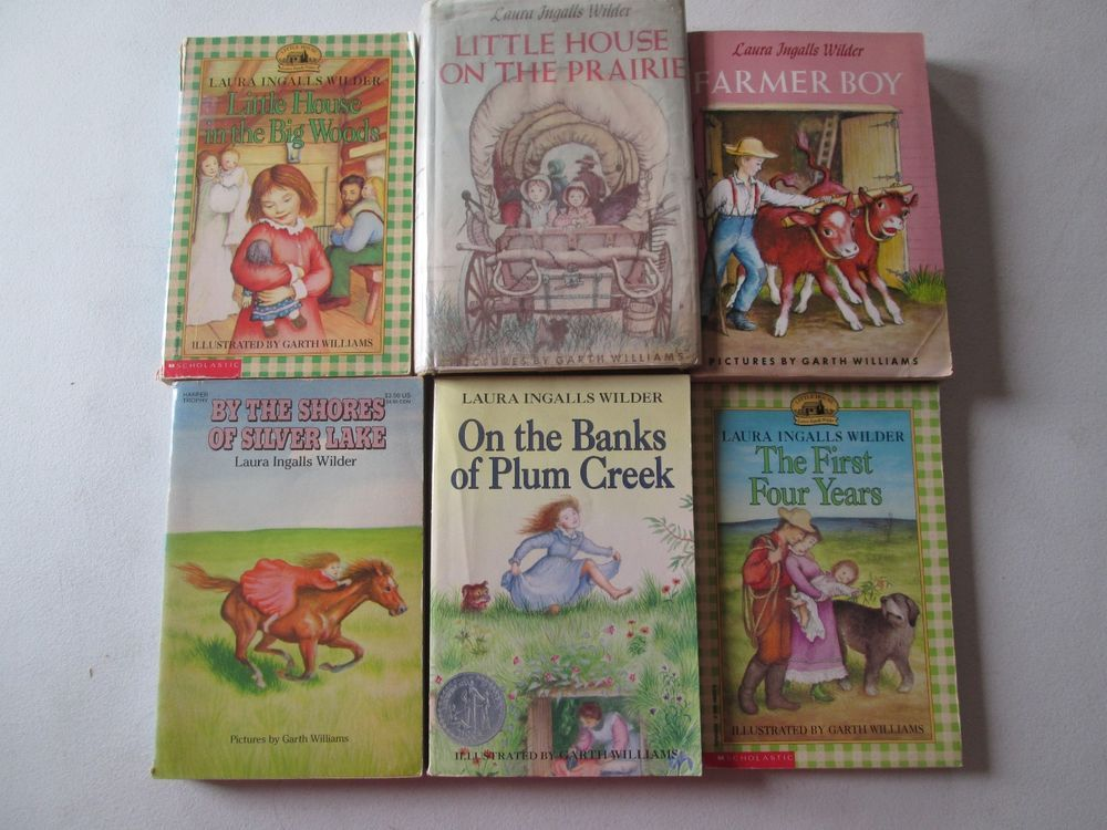 Little House On The Prairie By Laura Ingalls Wilder Lot Of 6 Books
