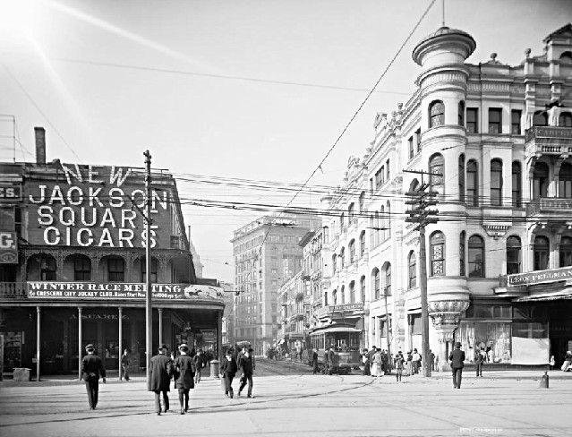 canal  u0026 carondelet streets 1900