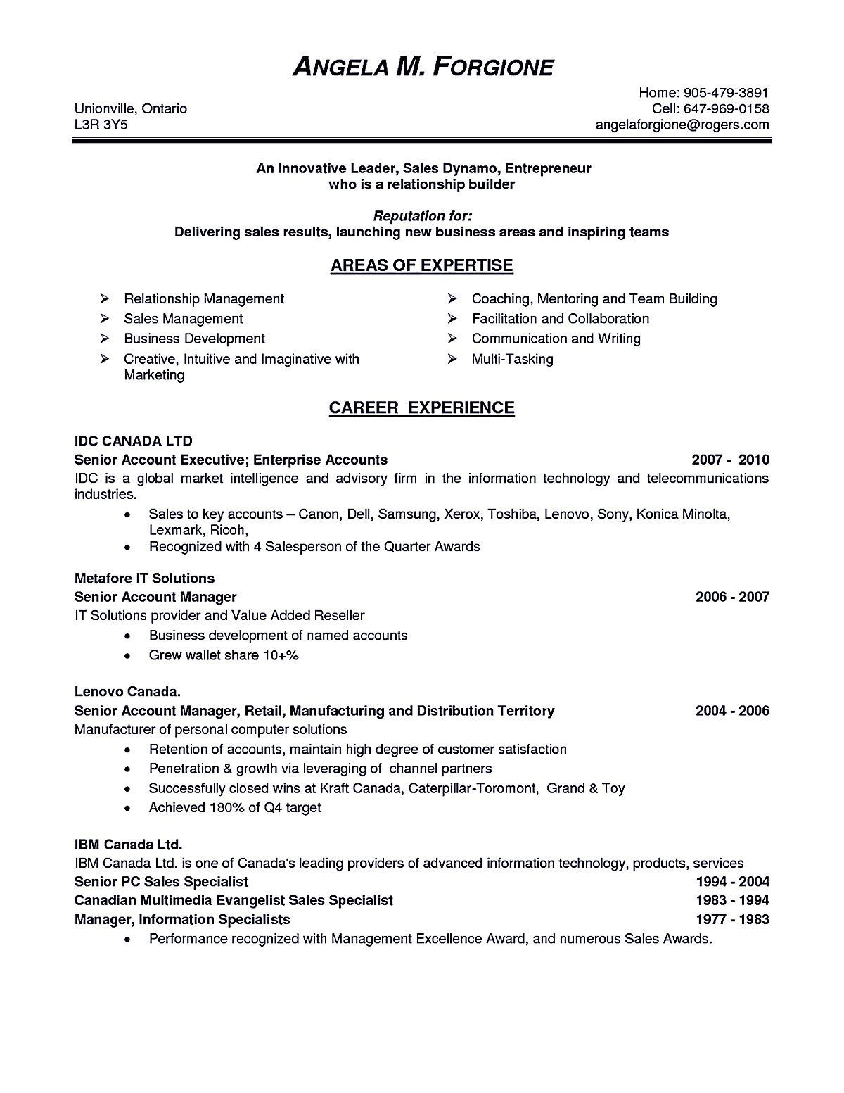 Incredible Account Executive Resume Samples Executive