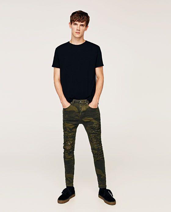 Pantaloni Con Ale 1 Per Immagine Borchie Mimetici Di Zara 8wEqqIf