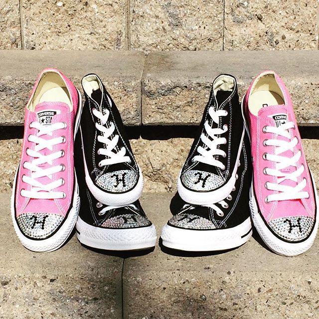 Monogrammed Custom Converse Shoes. Blinged Converse Shoes with Initials. Monogram  Converse Shoes 7c2991c83