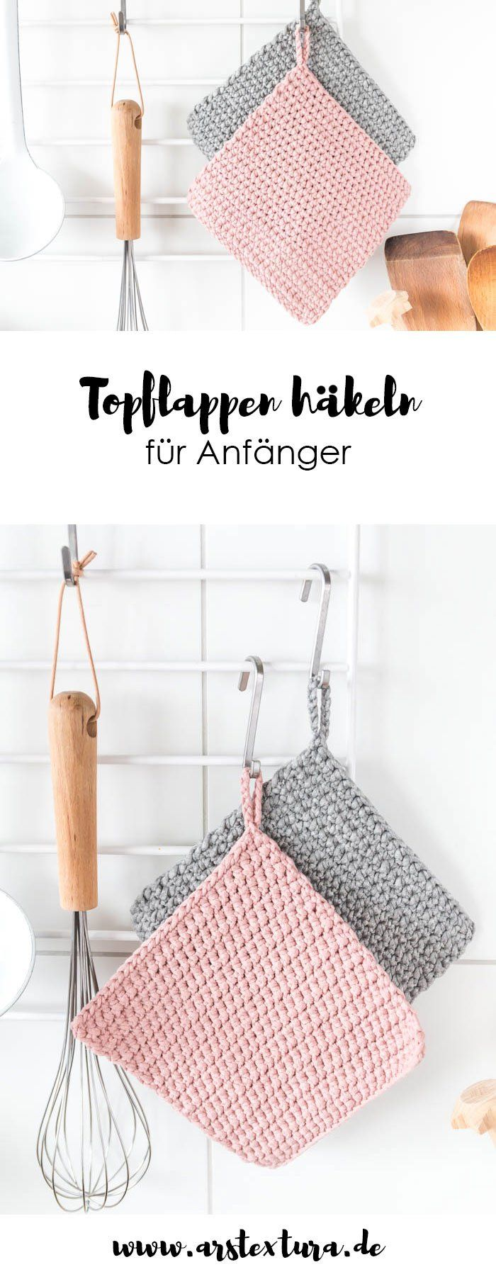 Topflappen häkeln für Anfänger | ars textura – DIY-Blog