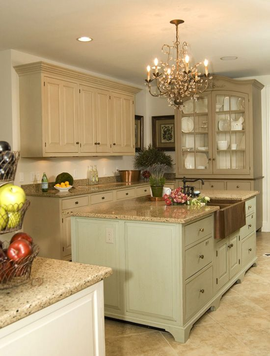 Smith Smith Kitchens: Country French Island With Copper Sink