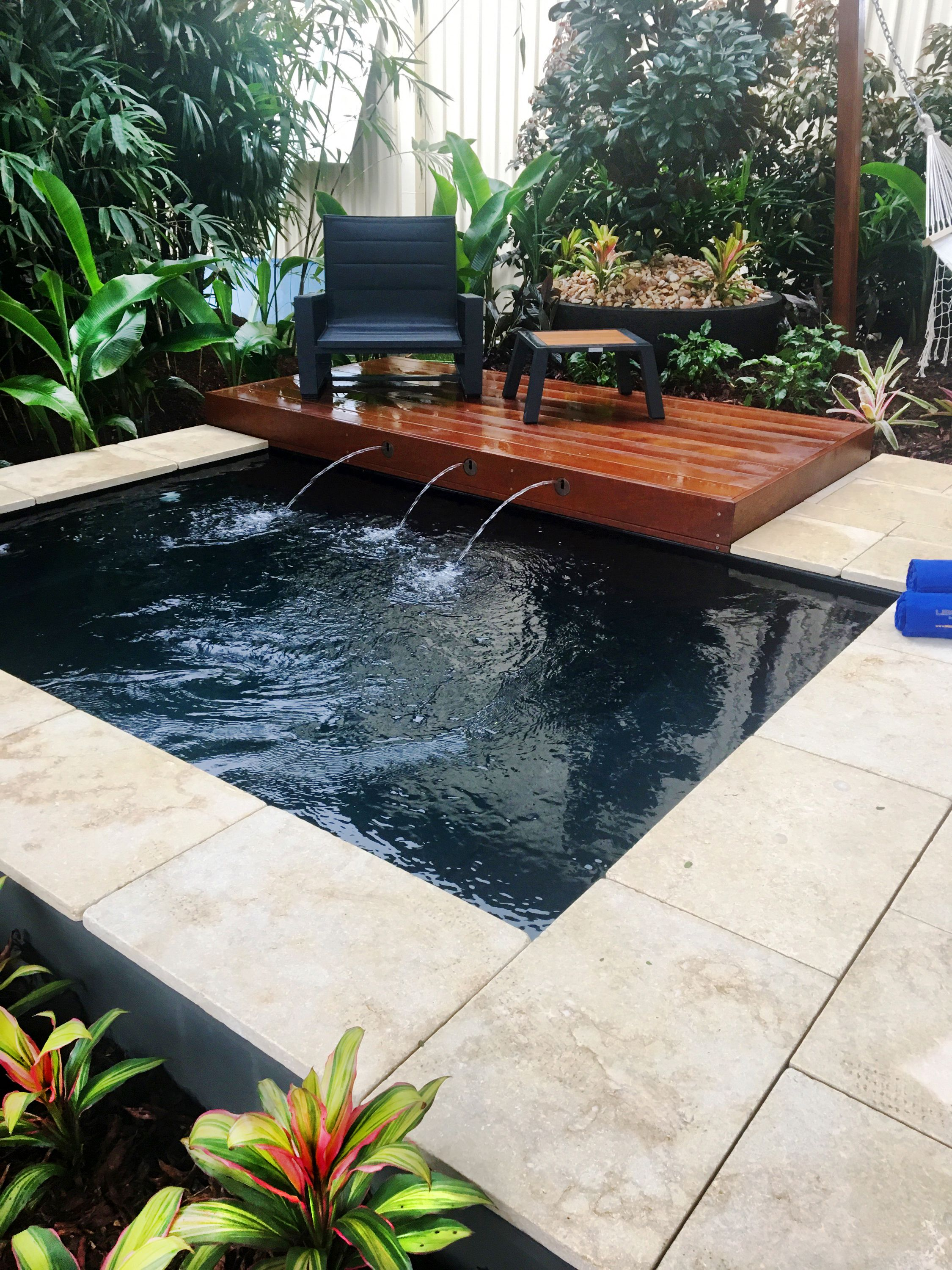 Ebony Blue Platinum Plunge 2017 Silver Award Winner For Best Garden Display The Garden Expo Sunshine Coast Lei Pool Colors Pool Landscaping Leisure Pools