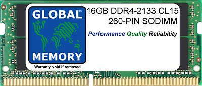 16GB (1x16GB) DDR4 2133MHz PC4-17000 260-PIN SODIMM MEMORY FOR LAPTOPS/NOTEBOOKS