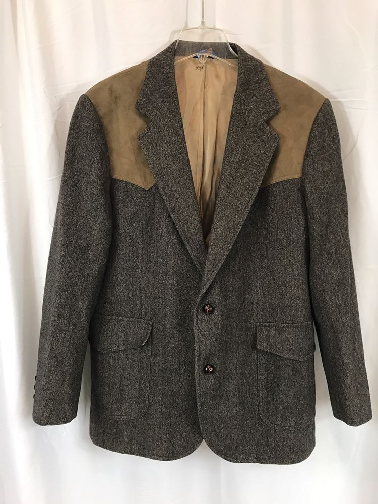 Vintage Pendleton Virgin Wool Western Elbow Patch Jacket