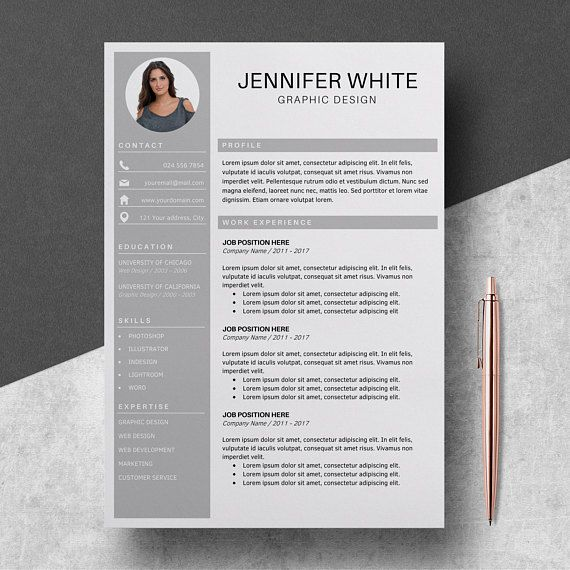 Professional Resume Template Cv Template For Ms Word Modern