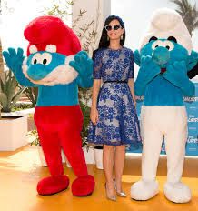 Katy Perry with Smurfs