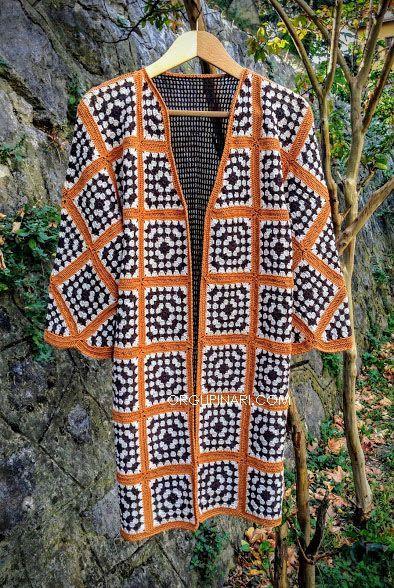 GRANNY SQUARE HIRKA #crochetsweaterpatternwomen