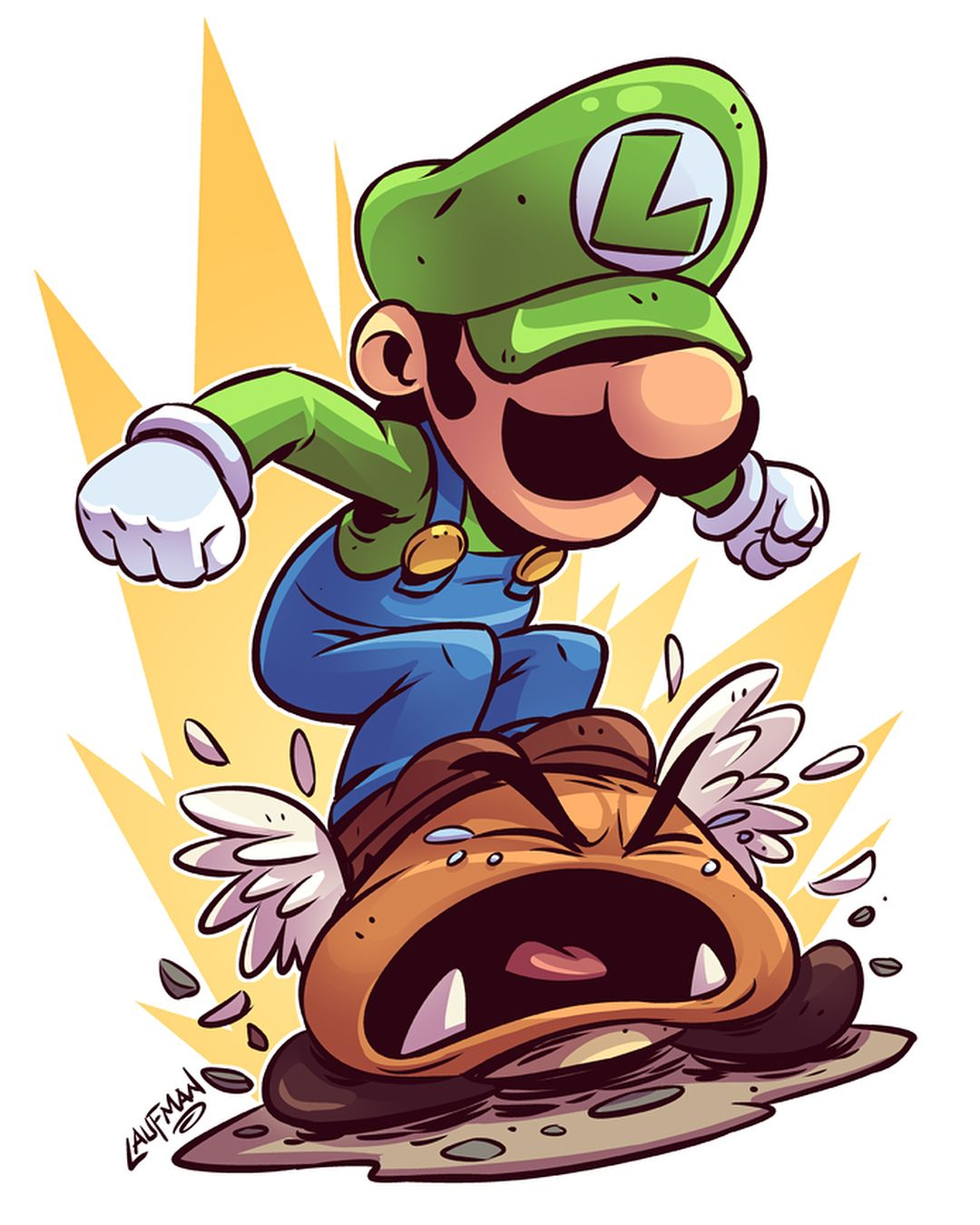 Get your stomp on new luigi print available at www - Mario et luigi dessin anime ...