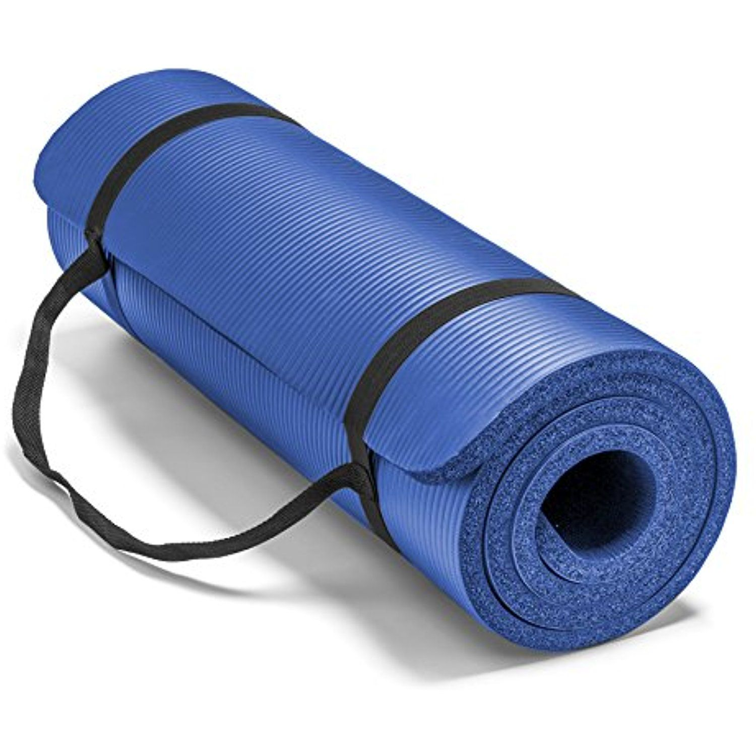 Spoga Premium 1 2 Inch Extra Thick High Density Exercise Yoga Mat With Carrying Strap Check Out This Great Mat Exercises Workout Accessories Thick Yoga Mats