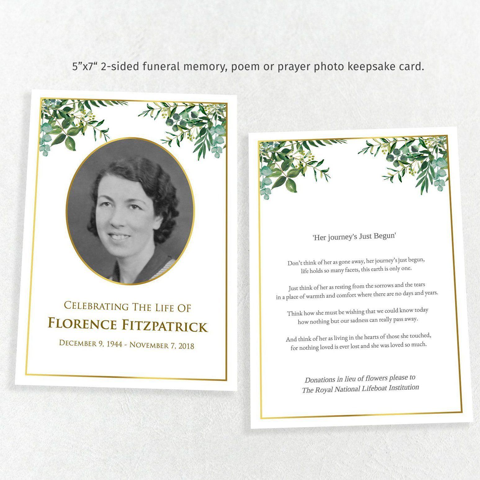 The Surprising Memorial Card Template Indesign Microsoft Word Free Intended For Memorial Card Memorial Cards For Funeral Funeral Templates Free Memorial Cards