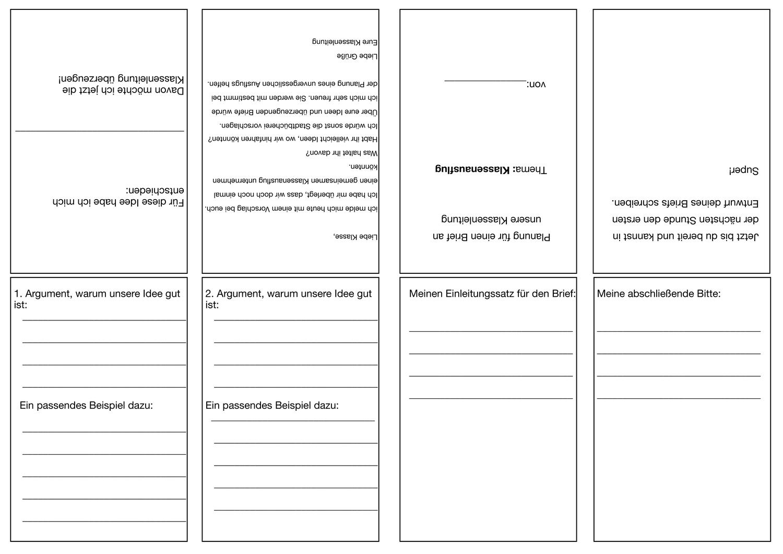 Buddybook Zur Planung Eines Argumentativen Briefes Unterrichtsmaterial Im Fach Deutsch Brief Unterrichtsmaterial Planen