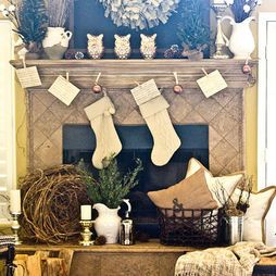 Mantel -- A little more red then I would be happy