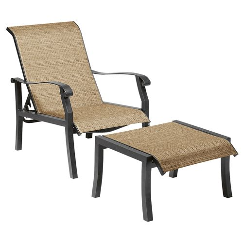 Marvelous Woodard Cortland Sling Putty Adjustable Lounge Chair 42H435 Ocoug Best Dining Table And Chair Ideas Images Ocougorg