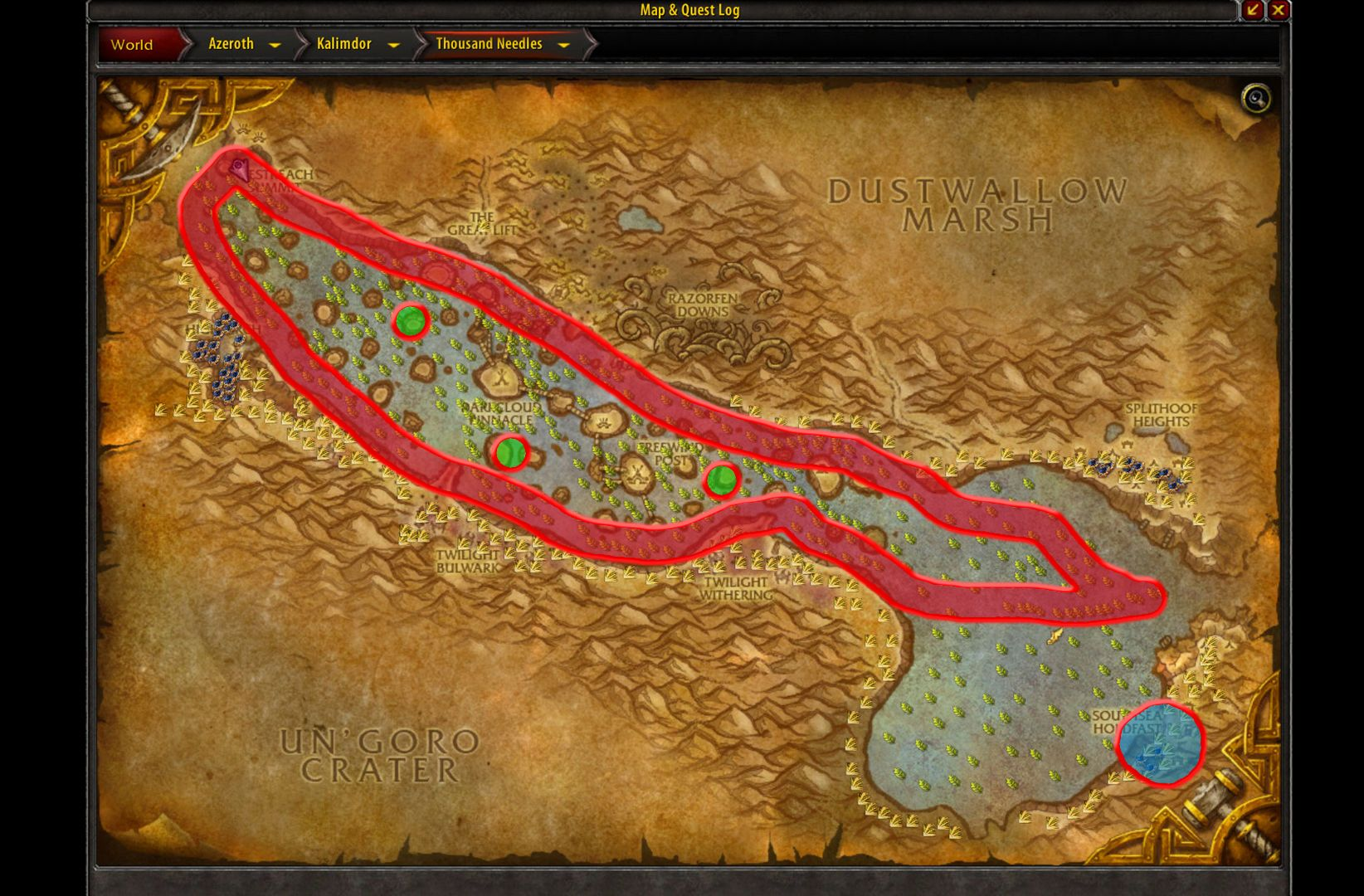 Stranglekelp Farming In Wow Full Guide Https Youtu Be Jy2spush Ow Azeroth Map World Of Warcraft