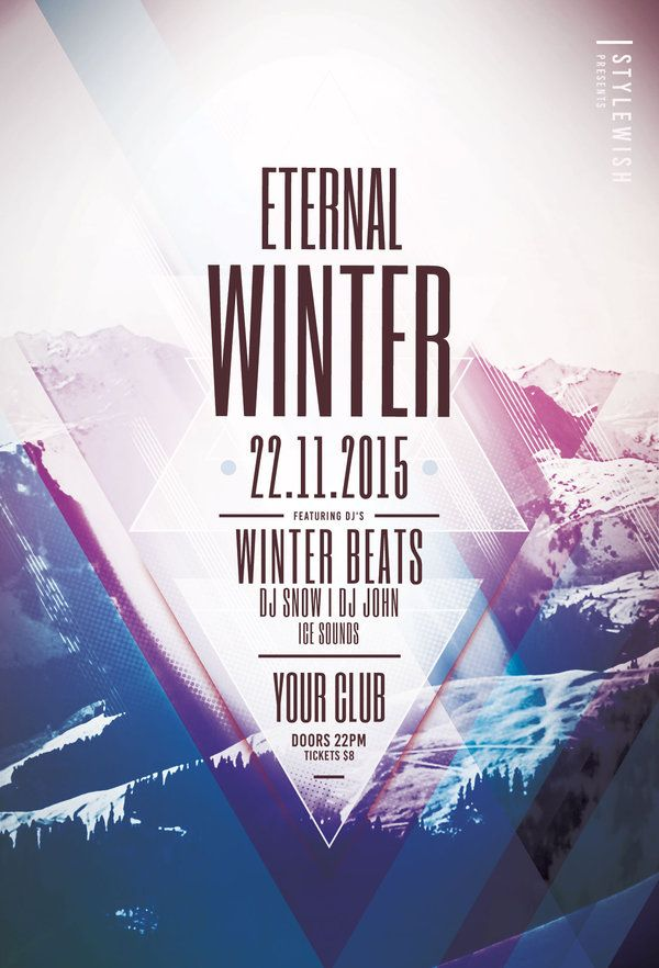 Eternal Winter Flyer  Flyer Template Template And