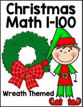 This Holiday Themed 33 Page Math Download Covers Numbers 1 100