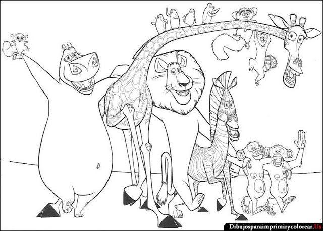 Dibujos De Madagascar Para Imprimir Y Colorear With Images