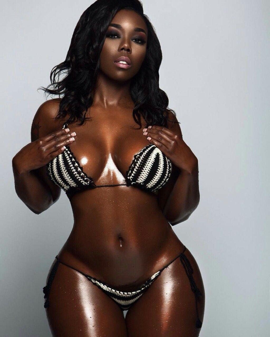 The Census Ebony in brown bikini