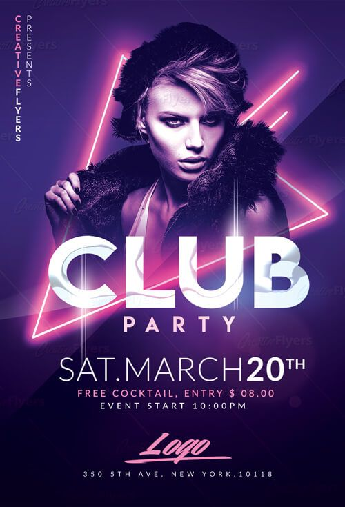 Check Out Club Party Flyer Psd Templates Creative Flyers Party