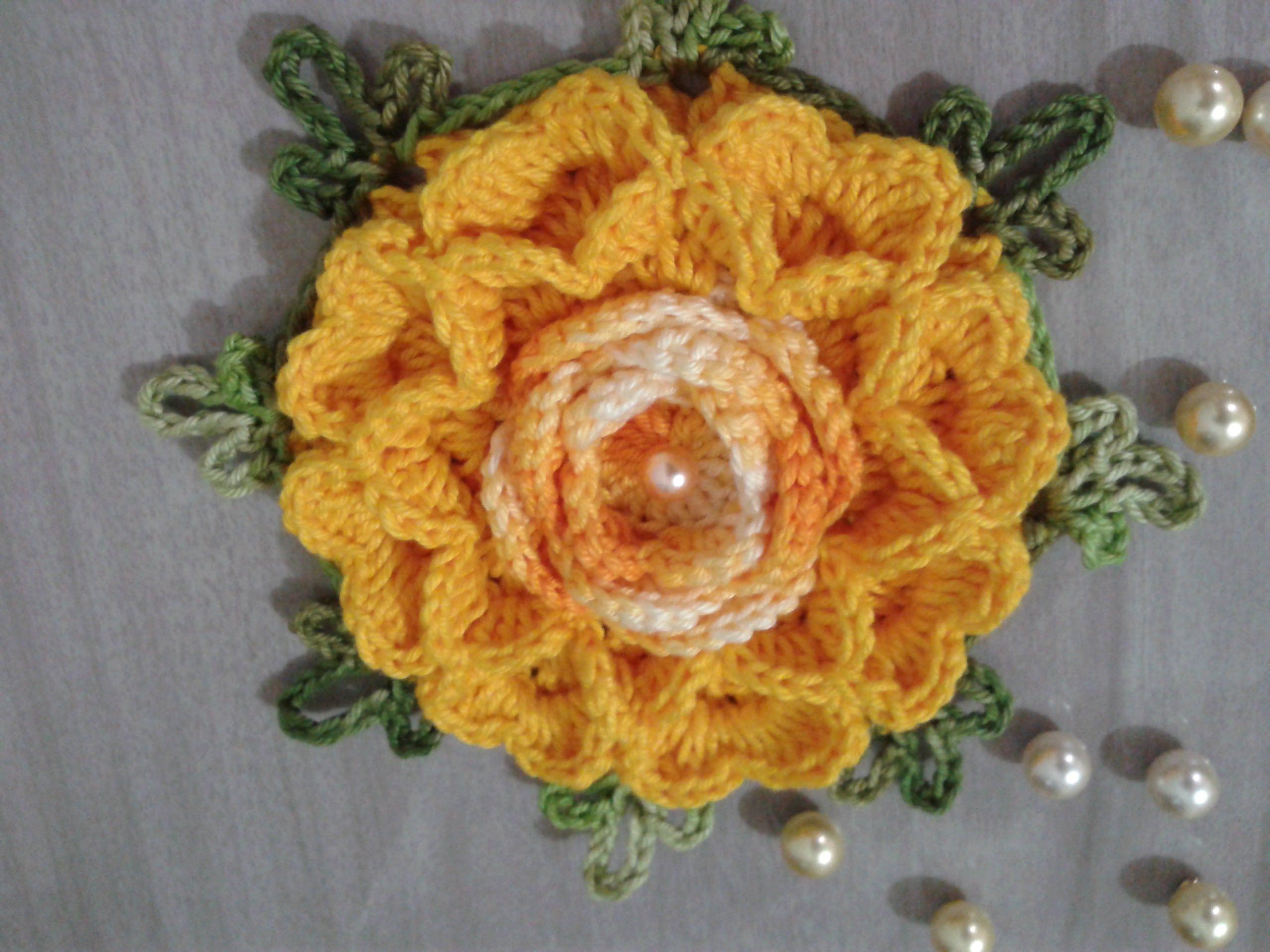 Flor Rosa Paixão   كروشيه   Pinterest   Blüten häkeln, Blüten und ...