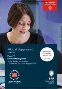 Acca F9 Financial Management Bpp Study Text 2015 2016 With Images