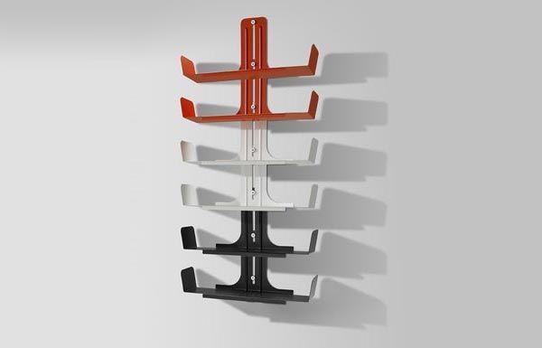 Futuristic Bookshelves With Adjustable Multiple Levels