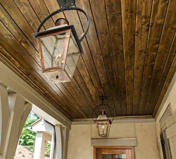 French Quarter Lantern On A Yoke Bracket Porch Lighting