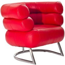 Imbibe Chair in Genuine Red Leather 627-RED by LexMod
