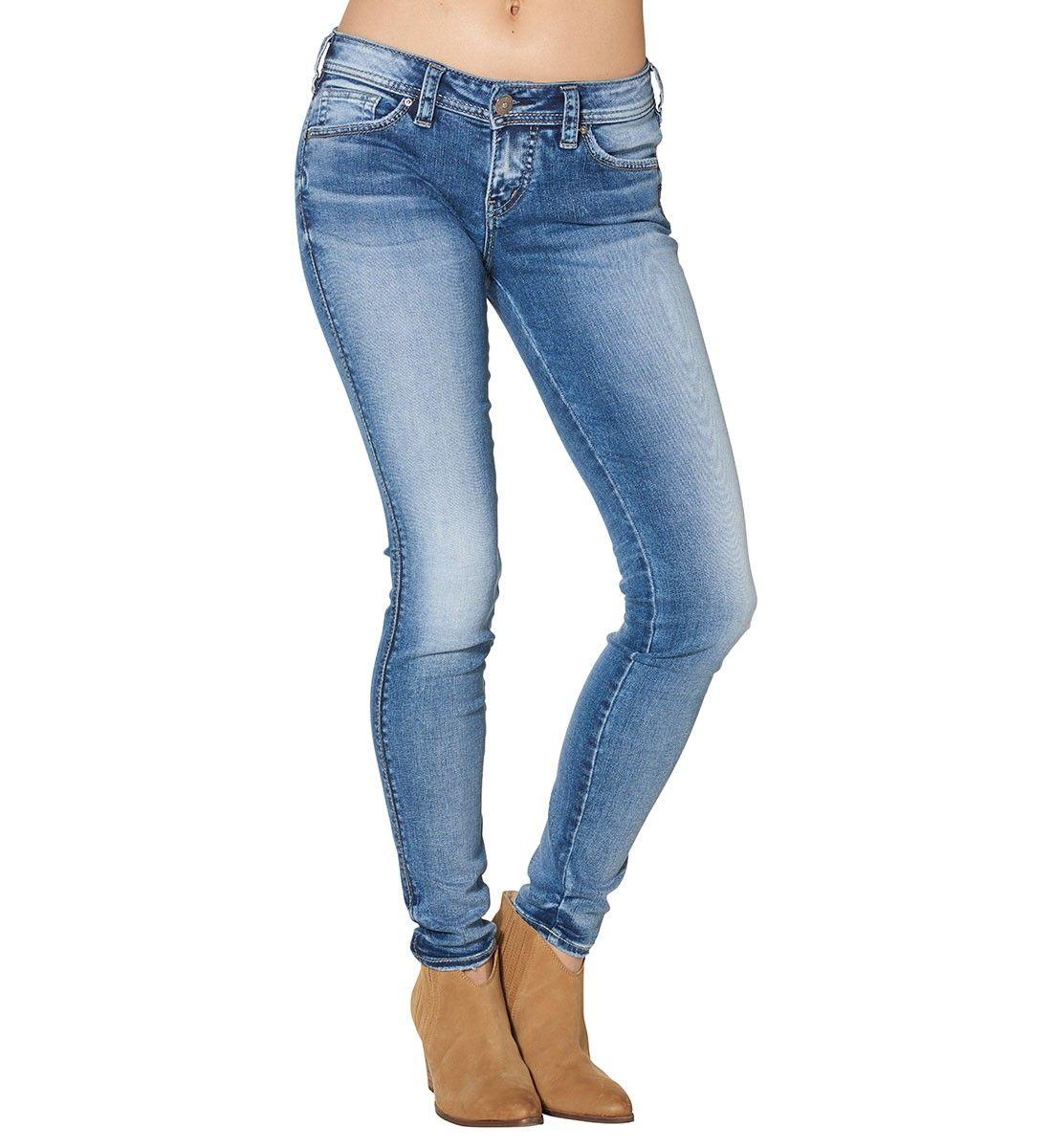 166b25ee9bb Aiko mid rise dark wash super skinny womens jeans.  SilverJeans ...