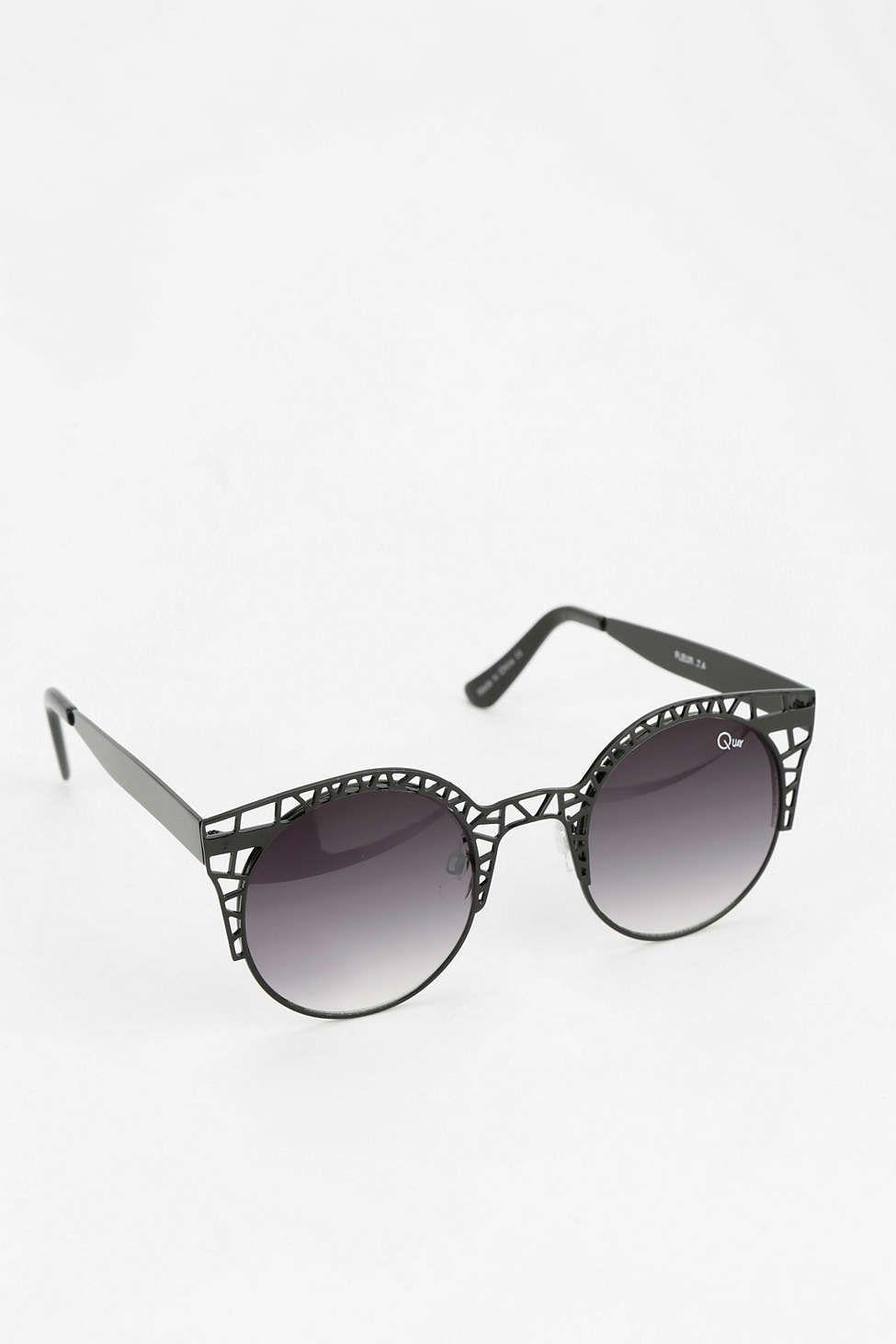 0d703b203b I may need these Quay Fleur Round Cat-Eye Sunglasses.