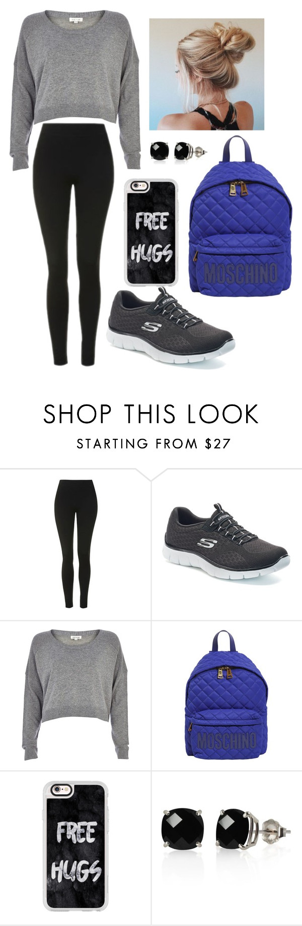 """""""Deportivo"""" by angelica-suarez-1 on Polyvore featuring moda, Topshop, Skechers, River Island, Moschino, Casetify y Belk & Co."""