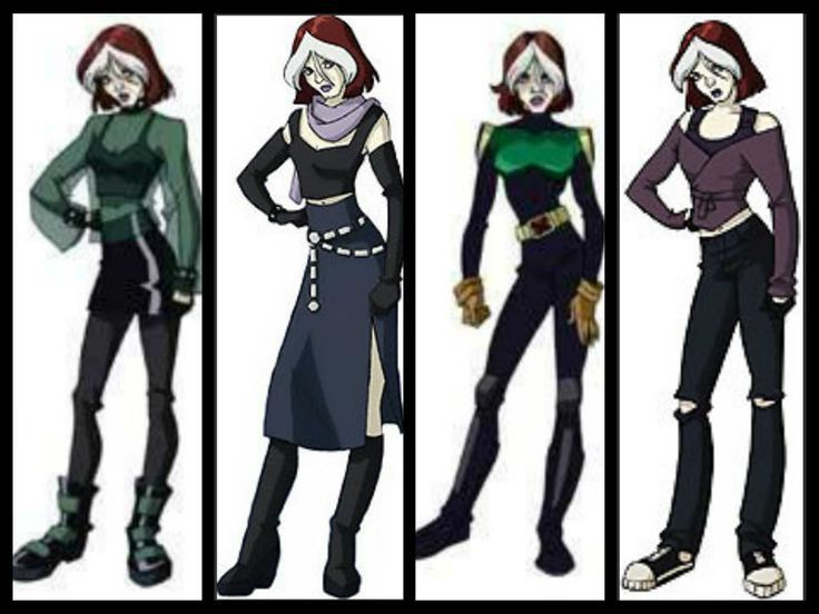 X Men Evolution Fan Art Rogue Collage X Men Evolution Rogue Costume Rogue Xmen Costume
