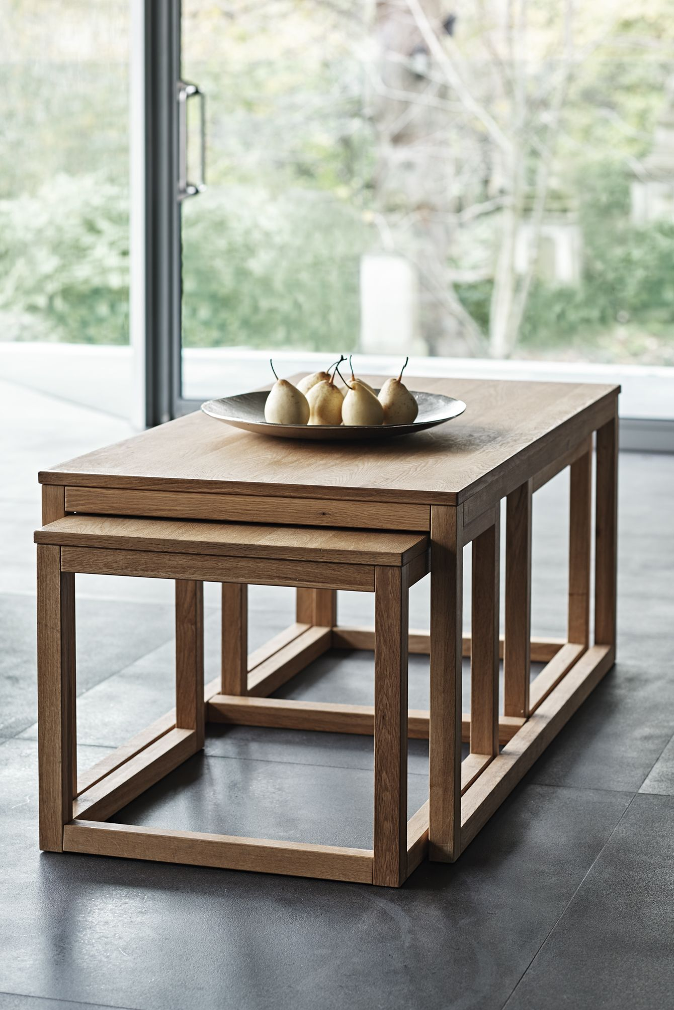 Nesting coffee tables mean you don t lose out on floor space even