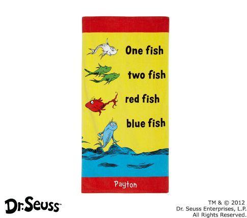Dr. Seuss™ One Fish, Two Fish Mini Beach Towel | Pottery Barn Kids