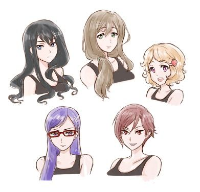 anime girl hair style anime hairstyles search drawings 3128 | 202439a285e629e530767aecc8e703c0