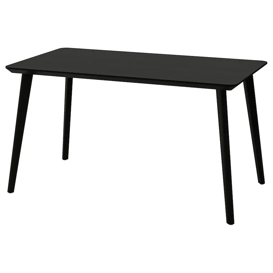 Lisabo Black Table Ikea Ikea Ikea Table Wood Console Table [ 900 x 900 Pixel ]