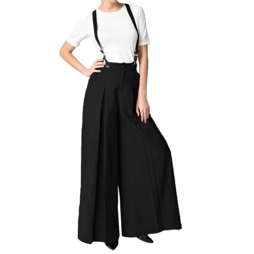 6621b581e0ae Women Vintage Strap Two Wear Wide Leg Pants Loose Pants Jumpsuit Overalls  Features  1.It is made of high quality materials