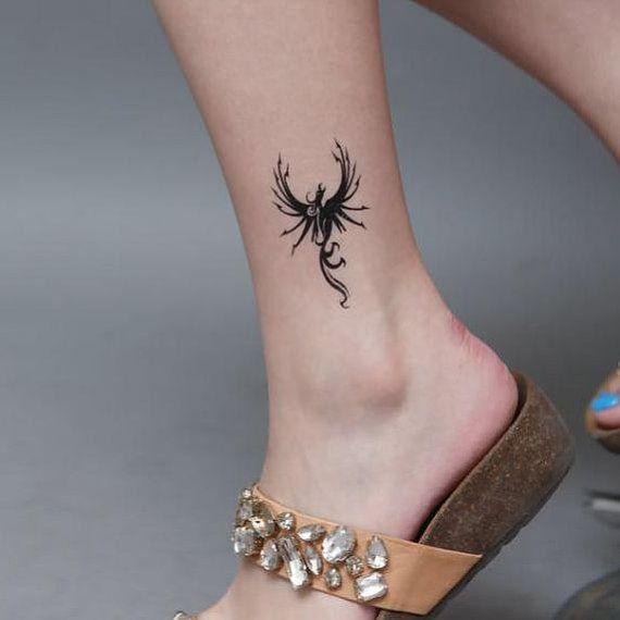 petit tatouage phoenix fille dessus de la cheville   Tatouage phoenix, Tatouage cheville et ...